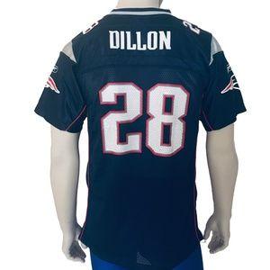NFL Reebok NE Patriots Cory Dillon Jersey # 28